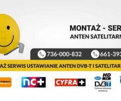 Montaż Serwis Ustawienie Anten Satelitarnych Naziemnych DVbt Kielce i okolice najtaniej